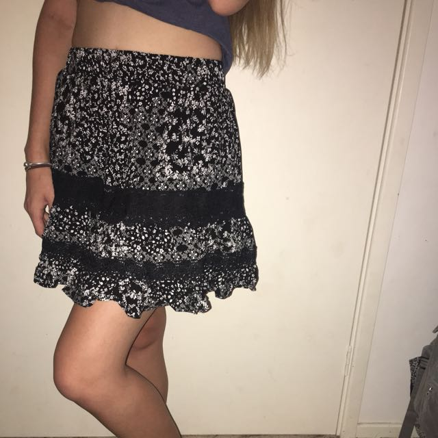 Cute Black And White Skirt