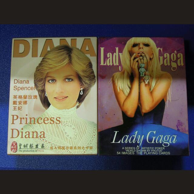《全新》DIANA , LADY GAGA 撲克牌