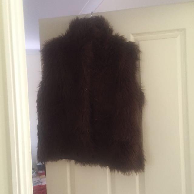 Faux Fur Gillet Vest Jacket