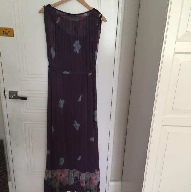 Floral Maxi Dress Size L