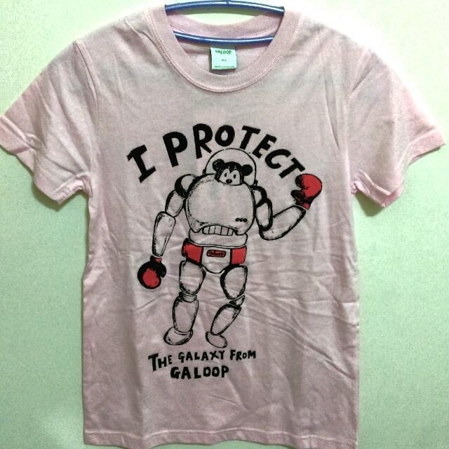 Galoop粉紅色T-shirt全新
