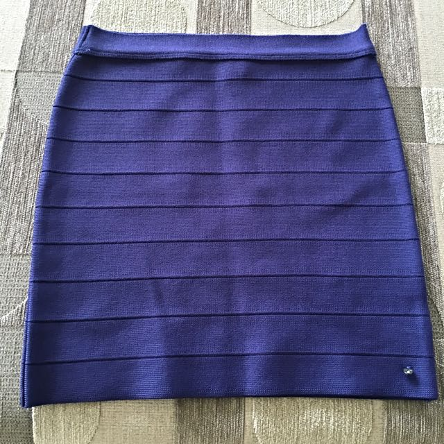 Guess Purple Bandage Mini Skirt Size Small Bnwot
