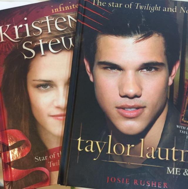 Kristen Stewart And Taylor Lautner Hard Cover Books