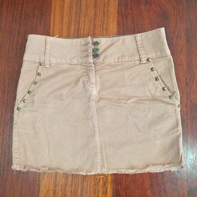 Mini Studded Skirt Etam Size Eur 34