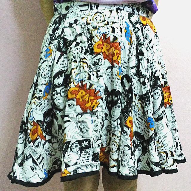 Ninety Degrees Asymmetrical Popart Skirt