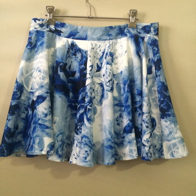 Paper Heart - Blue and White Skirt