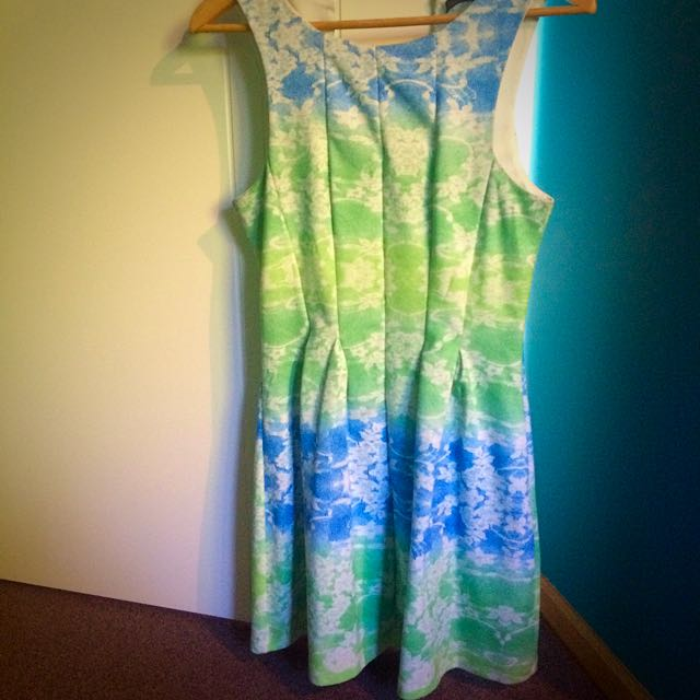 Paradisco Blue And Green Dress
