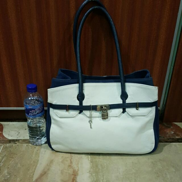Tas Blue Navy And White