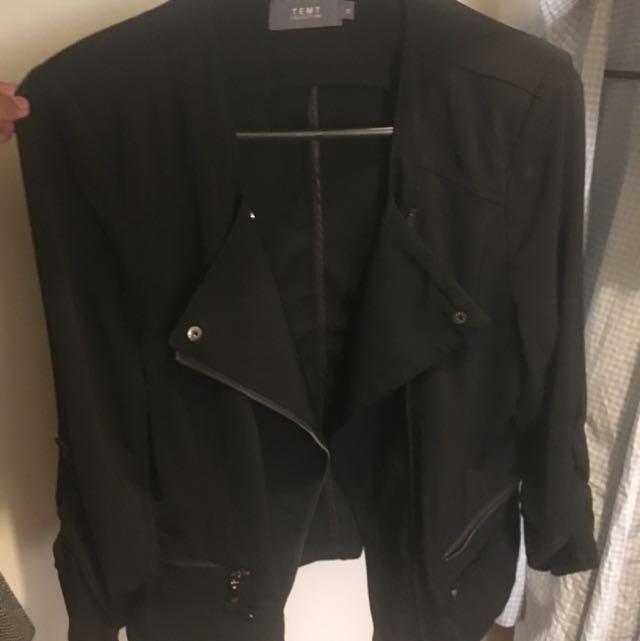 TEMT Black Blazer Size 10
