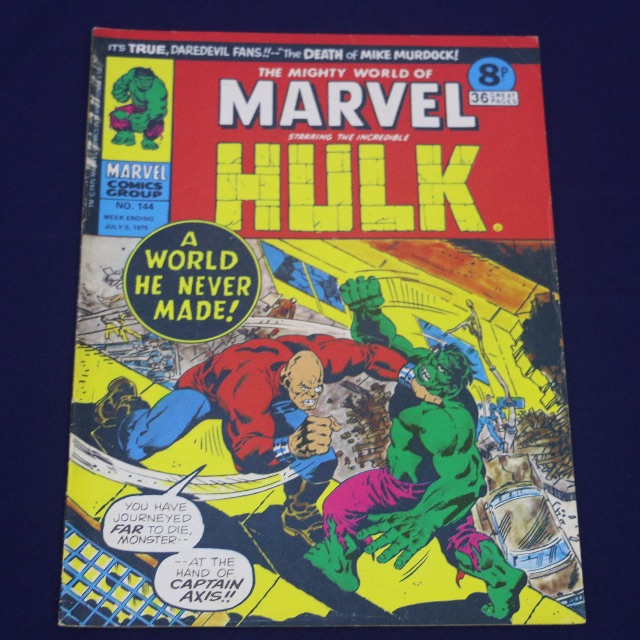 The Mighty World Of Marvel Starring the Incredible Hulk 1975 no 144 Comics