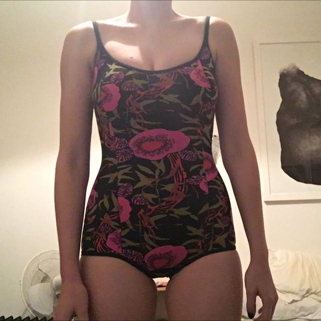 Vintage Swimsuit Sz S Multi Colored
