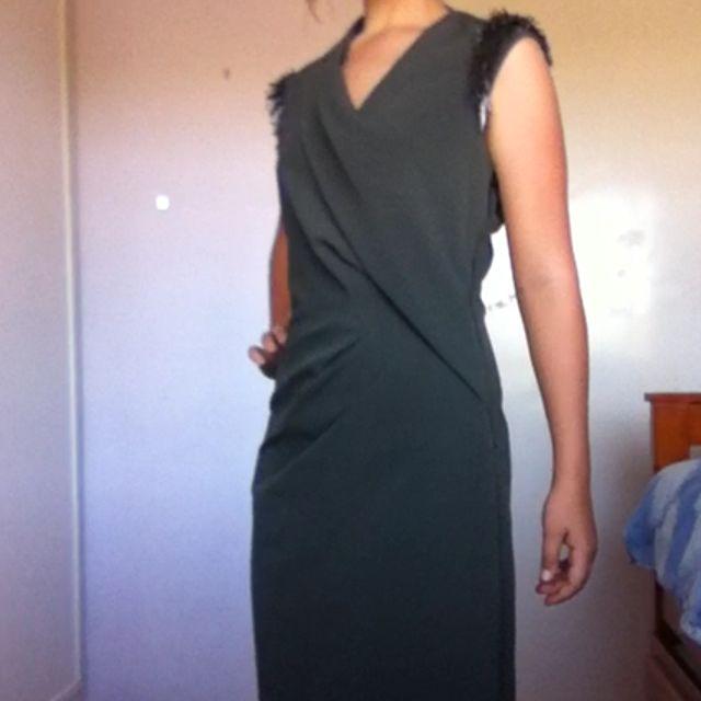 Witchery Dress Dark Khaki