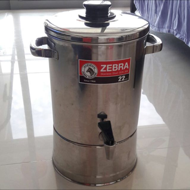 Zebra Stainless Steel Water Container Home Appliances On