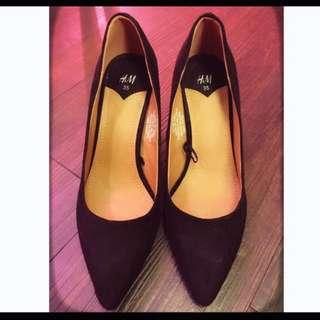 近全新-H&M歐美百搭高跟鞋-黑