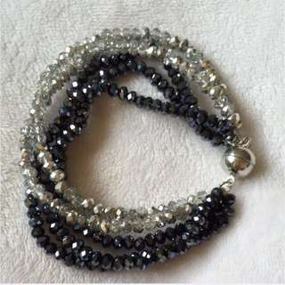 5 String Crystal Bracelet With Magnetic Clasp ( STONES that ROCKS )