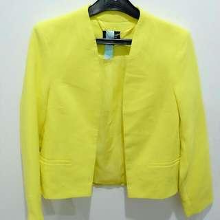 Preloved Topshop Neon Blazer!!