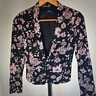Bardot Floral Print Blazer - Size 6