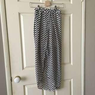 Zig Zag Maxi Skirt