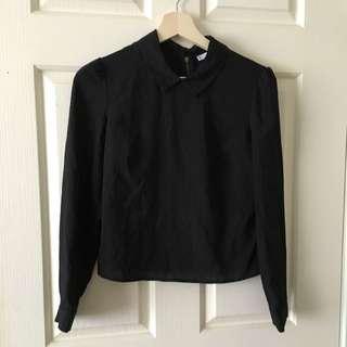 Black Shirt With Collar