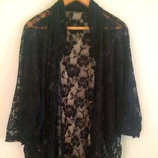 LACE THROWOVER XS