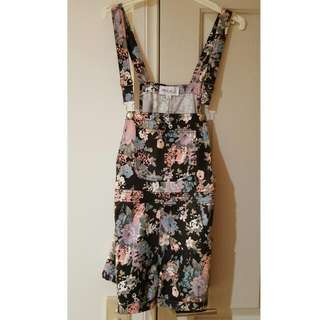 Floral Overalls Size8