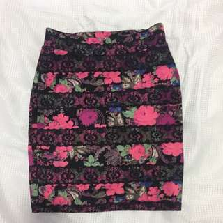 High Waisted Fitted Skirt