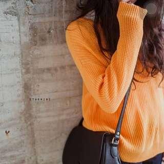 Starmimi 正韓蛋黃色針織毛衣