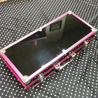 粉色鏡面槍箱(裝工具釣蝦竿)