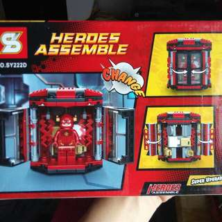 The Flash heroes assemble brick set