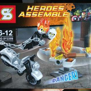 Ghost rider heroes assemble set