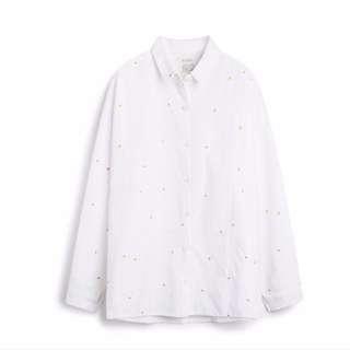 Pazzo 小雛菊刺繡襯衫