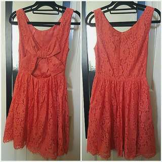 Forever New Bow Back Lace Dress