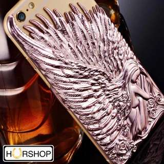 Casing 3D Wings Embossed Luxury Casefor Iphone 6 6s