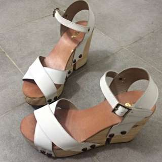 White And Brown Heels