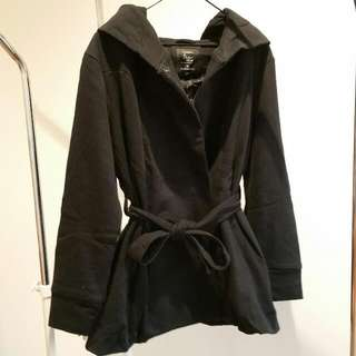 Thick Black Coat | Size M