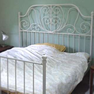 [SOLD] White Metal Queen Bed