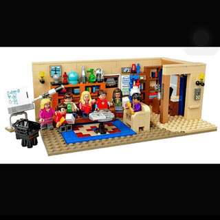 Big Bang Theory Lego Set ( Built And In Case)