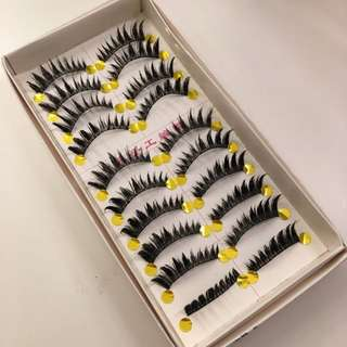 Handmade False Eyelashes One Box #1059