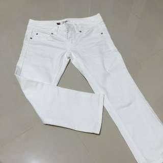 全新白色七分褲