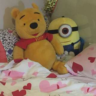 Pooh And Minion For Sale