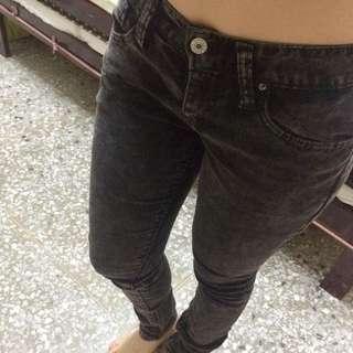 正韓 REX GIRL 顯瘦 石灰刷色牛仔褲