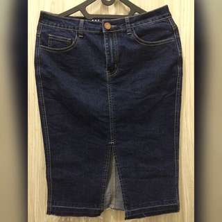 Cotton On Classic Pencil Skirt Denim
