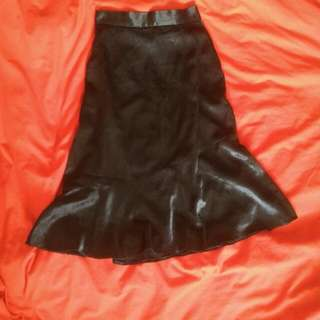 Asymetric Mermaid Skirt Black