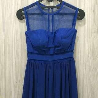 Sexy Blue Long Dress