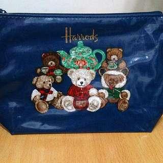 【免運】全新英國品牌Harrods熊熊拉鏈化妝袋