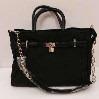 黒色簡約手提包/肩背包