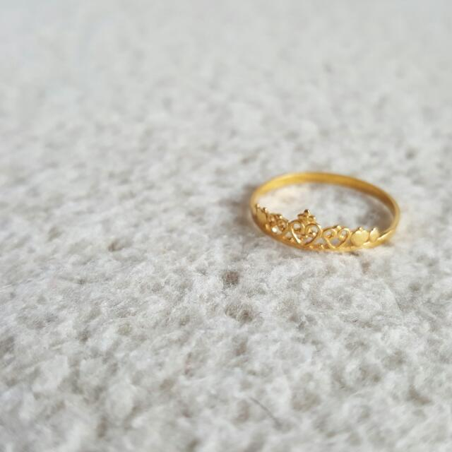 Brand-new SOLD - 916 Gold Tiara Ring, Women's Fashion on Carousell KD47