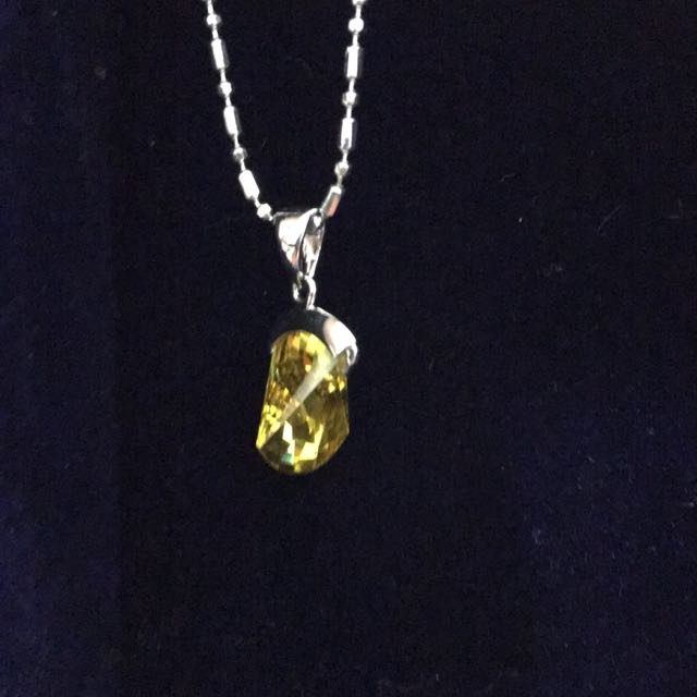 招財黃水晶項鍊