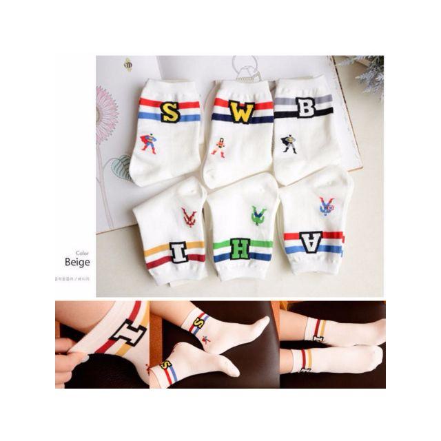 韓國漫威超人白襪(韓國襪襪區任選兩件另有超低優惠)