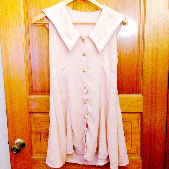 粉色洋裝~